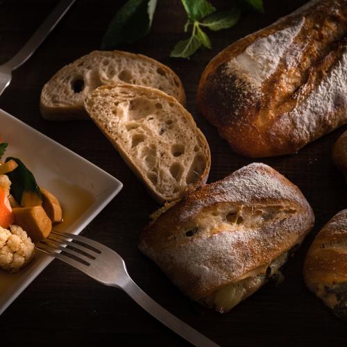 自家製酵母パン!大きなリュスティック&グレープフルーツ、ミント酵母