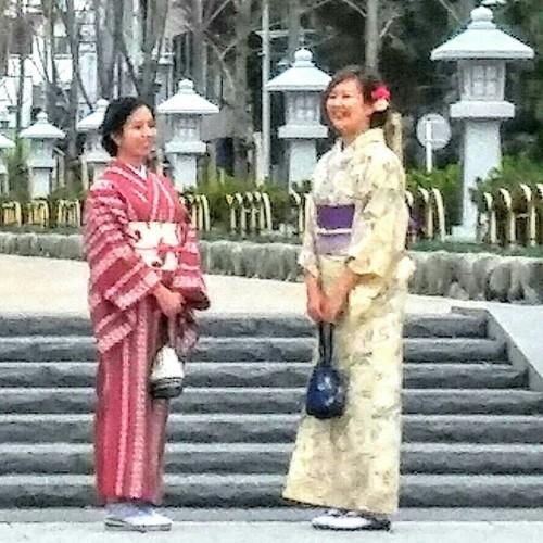 桜の季節の鎌倉を着物で散策