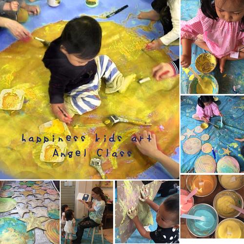 9月Angel Class とろとろ絵の具でまんまるお月様を描こう☆