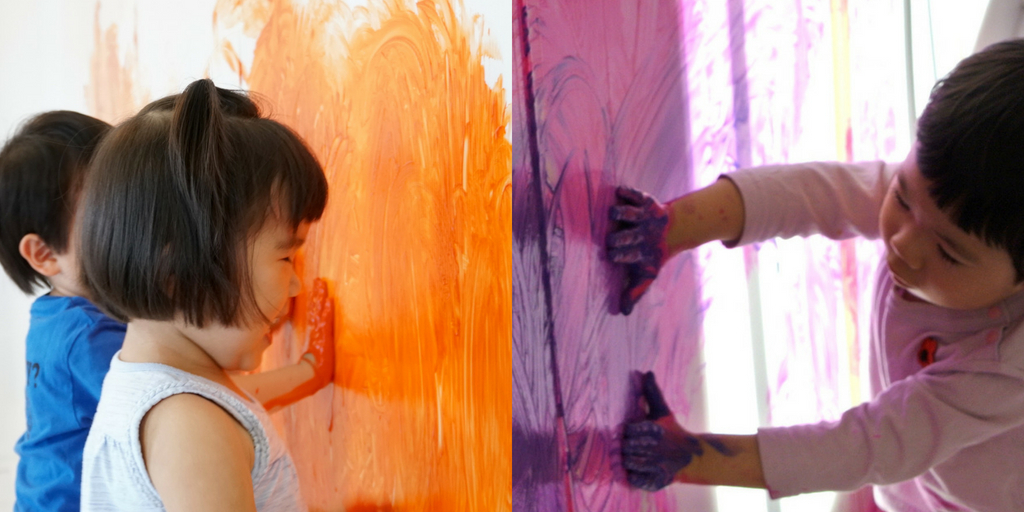 [2歳] 全身でペイント!Baby FREELY☆Halloween 10月