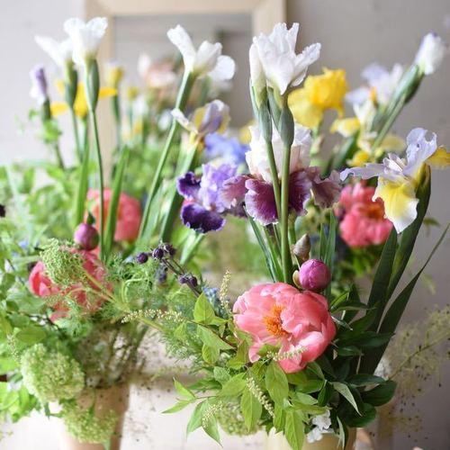 Special class**『まるで洋書から抜けでたよう♪菖蒲や芍薬や...初夏の和風な花たちを洋風にアレンジ♪』