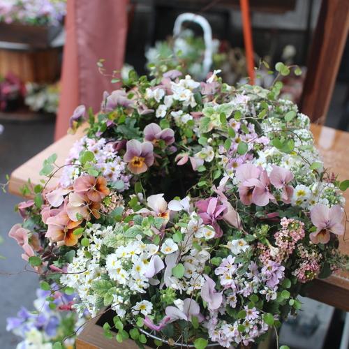お花ふんわり寄せ植え『ギャザリング リース』体験教室