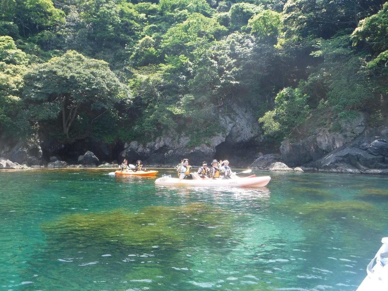 新緑カヤック★リアス式海岸4時間コース【4月23日~7月20日】