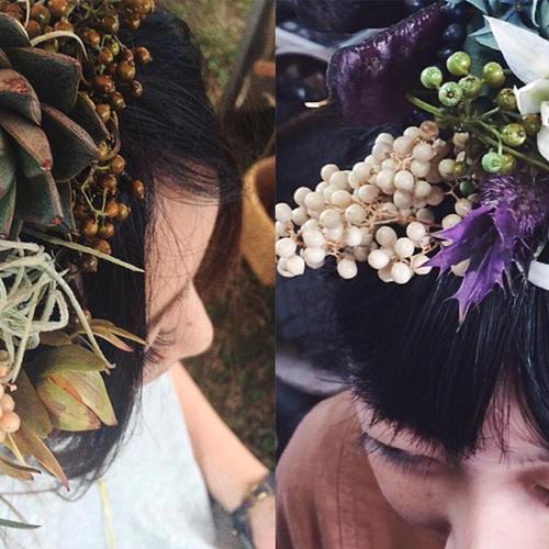 【もみじ市2017】Tiny N「頭に花を生ける」