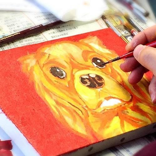 千歳烏山駅北口徒歩1分【キャバリア&他犬種】初心者でも簡単ペットの絵画教室