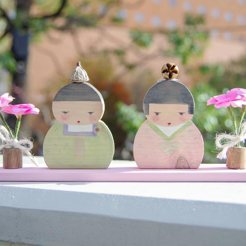 【2月】トールペイントとファイバークラフト紙で雛人形作り