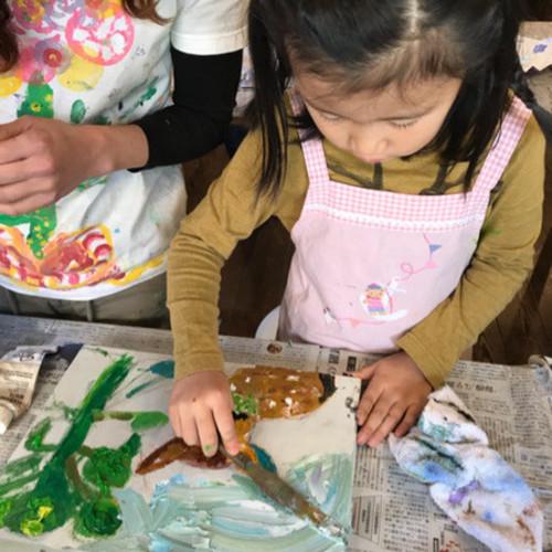 Event 1/12(土)18(金)はじめての手ぶらde油絵教室