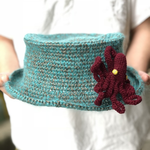 WORKSHOP:夏のペーパーヤーンのかぎ針編み帽子 ZAORIC knitknit