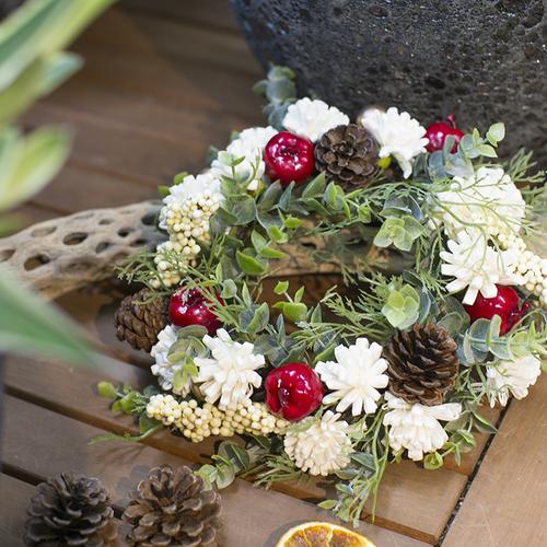 【11月】ソラフラワーで作るクリスマス花かんむりリース