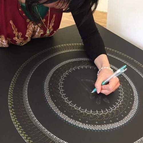 Harmony Mandala artワークショップ at アトリエ