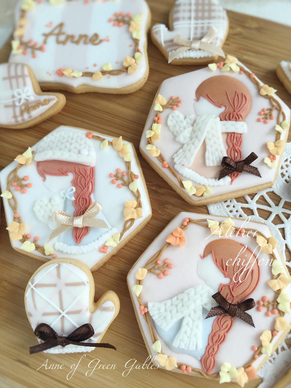 11月マンスリー 赤毛のアンアイシングクッキー
