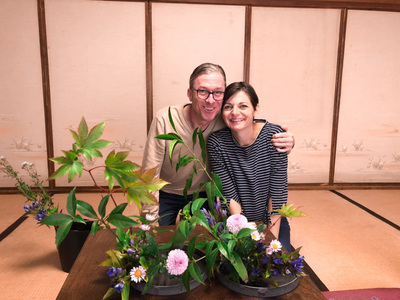 Fun Ikebana Experience at Ryokan for 100 mins