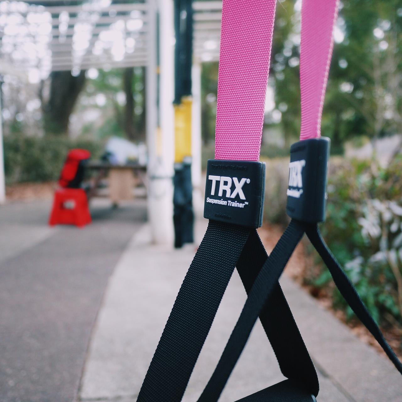 公園でTRX