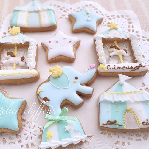4月 ゾウさんサーカスアイシングクッキー