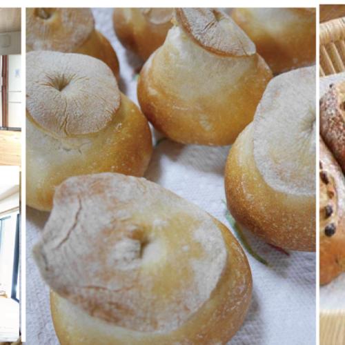 木のキッチンでパン教室 パン2種+お菓子とミニサラダ