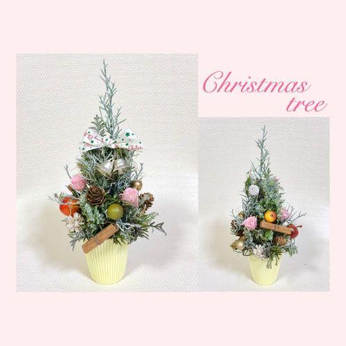 「クリスマスツリー」プリザーブドフラワー体験『 かこむ創造フェスタ2019』