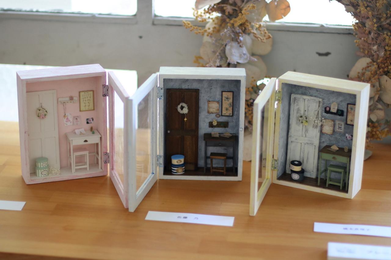 お部屋に飾れるフレームドールハウス作り