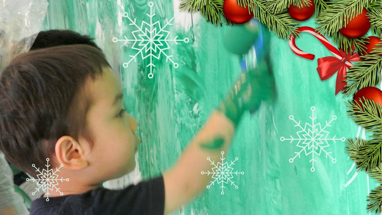 [2歳] 全身でペイント!Baby FREELY☆Christmas(クリスマス)  12月