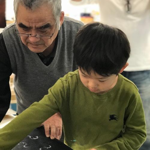 夏休み特別企画 熊谷染めde中国の子供たちと交流