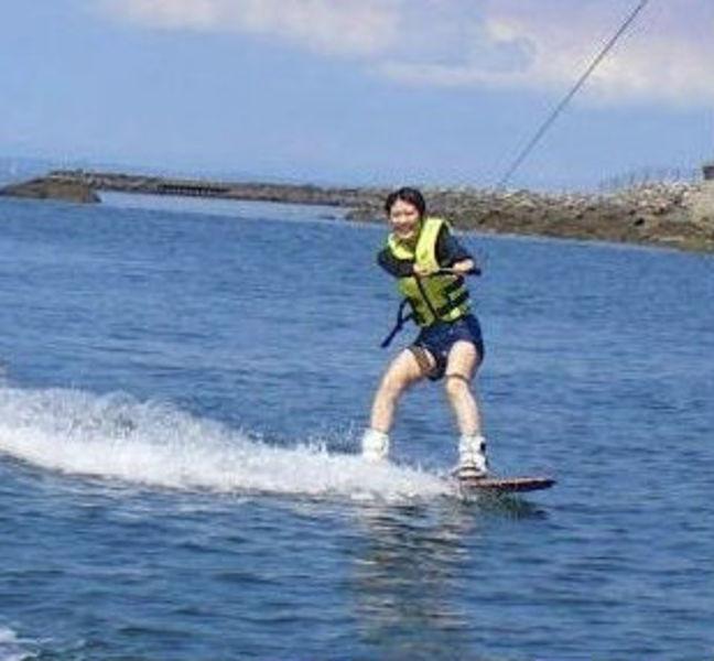 リミット★ ⑤ウェイクボード体験(水上バイク/10分コース) 2名より受付
