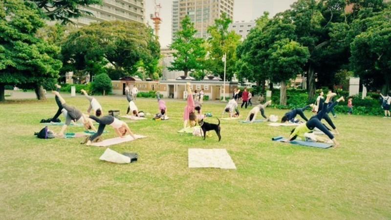 横浜元町中華街ー山下公園/港の見える公園ヨガ/France Yama Park Yoga