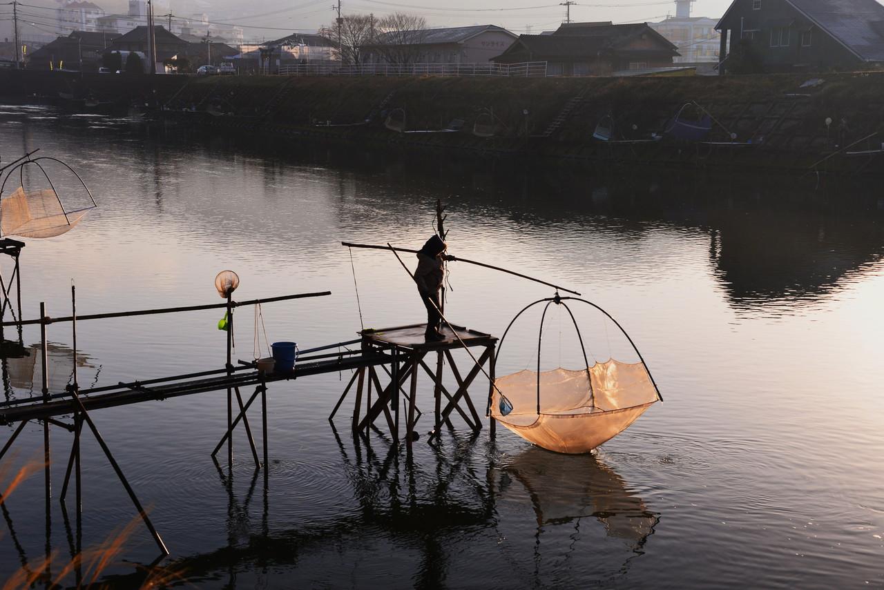 佐々川シロウオ漁体験