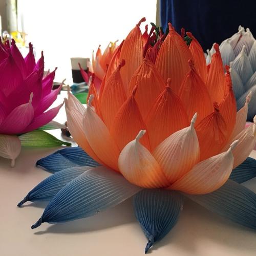 韓和紙で作るハスの花ワークショップDAY