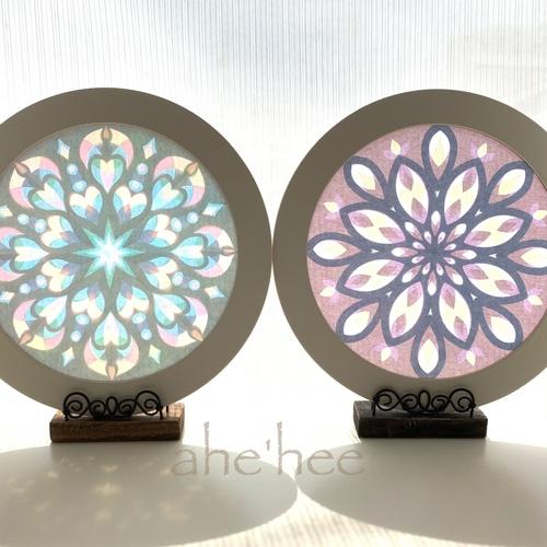 紙のステンドグラス~ローズウィンドウ作り