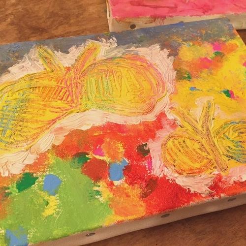 10/22(日)キャンバスにアクリル絵の具で画家気分♪【junior Class作品展日替わりワークショップ】