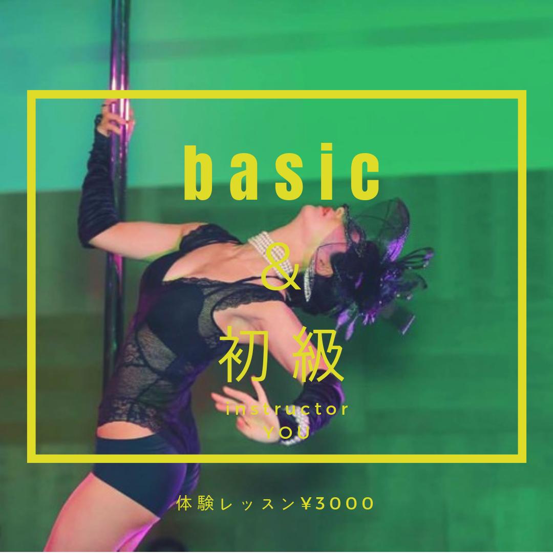 🔰 ベーシック&初級 ポールダンス 75分 (担当:YOU)