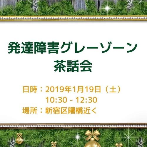 発達障害グレーゾーンの集い:2019年最初の茶話会@新宿