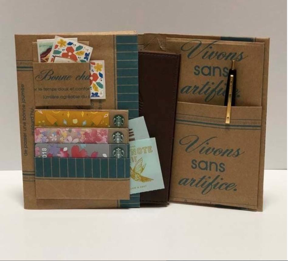 【神戸B3 10/2】紙袋リメーク ワークショップ 小型ノート入れを作ろう