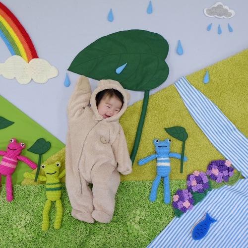 雨降りクマさんのおひるねアート×アルバムカフェ@上北沢親子カフェイルソーレ