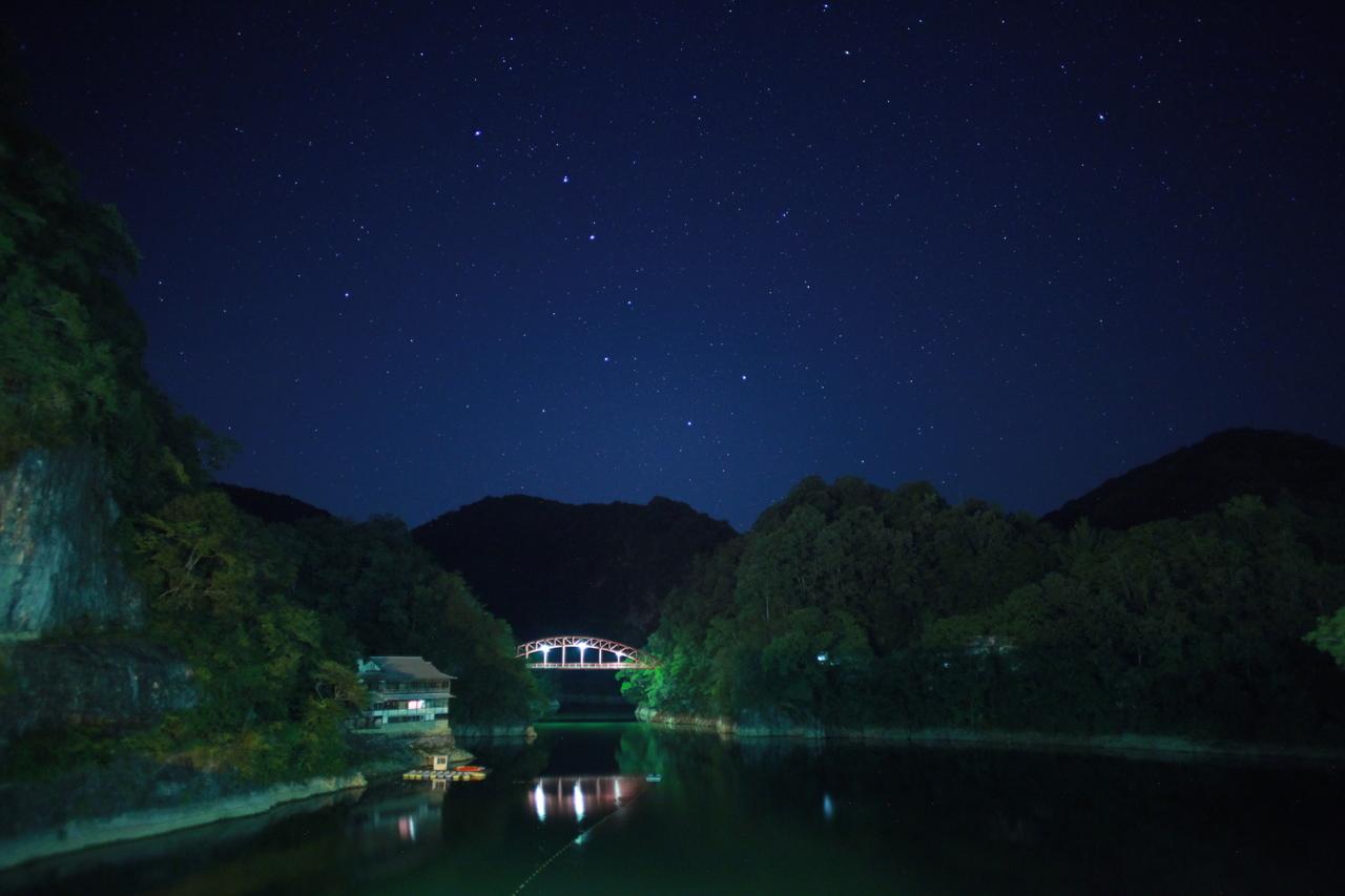 キンボタル観察会(神龍湖)