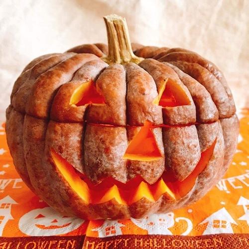 小菊かぼちゃでハローウィン