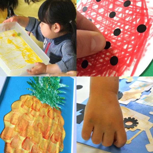 [2歳]飾れる作品を造ろう!Babyアート☆Fruits(フルーツ) 6月
