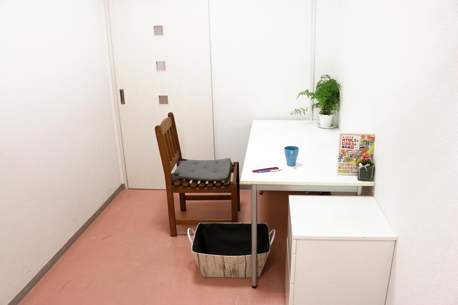 プライベート空間の個室【30分: 500円、6㎡:1人】
