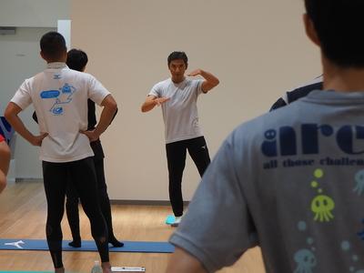 野村健一郎氏による体幹トレーニング教室