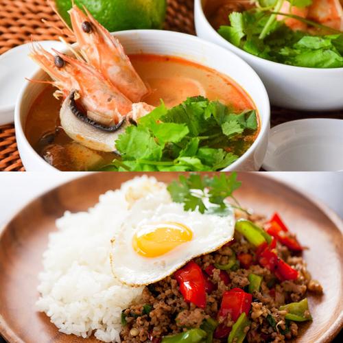 タイ料理を学ぶ  トムヤムクンとガパオライス
