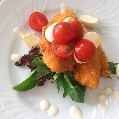 イタリアの初夏の定番!グリーンアスパラリゾットと鶏むね肉カツレツ