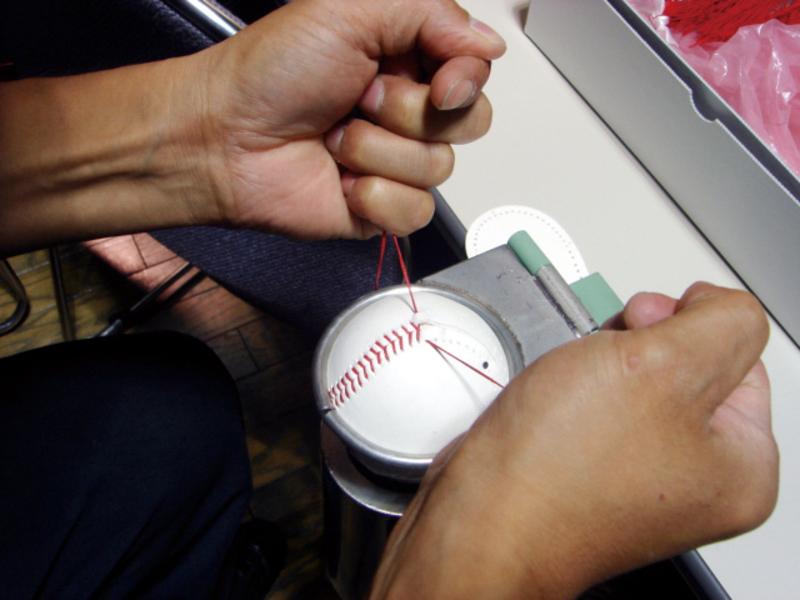 野球の硬式ボールをつくろう!