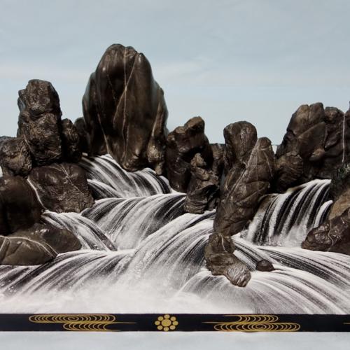 【季】広大な景色を机の上に 400年続く一瞬の美 細川流盆石 細川流盆石家元嗣 永島三奈子