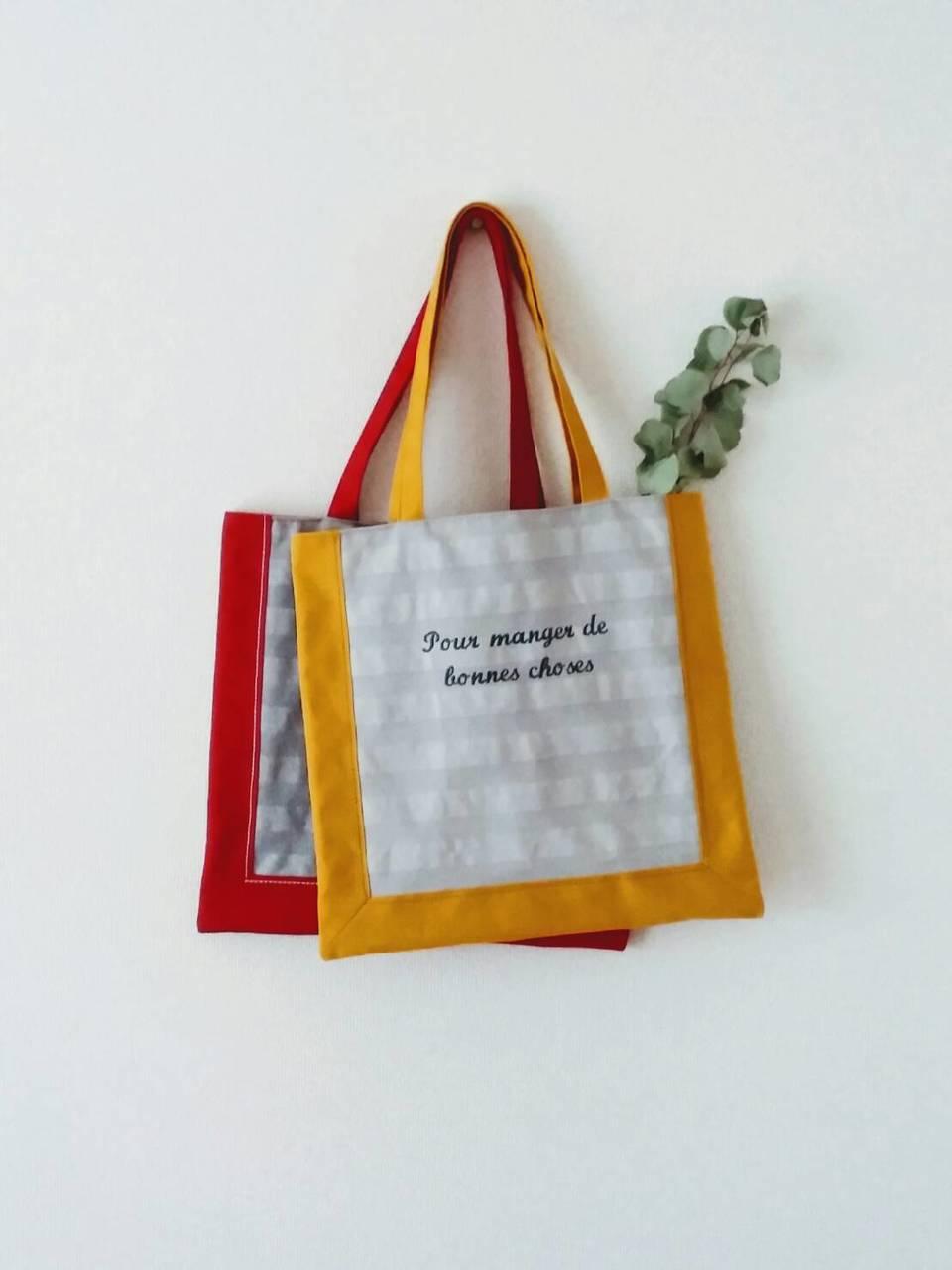 ②赤峰清香「バイカラーの帆布のバッグ」(2k540)