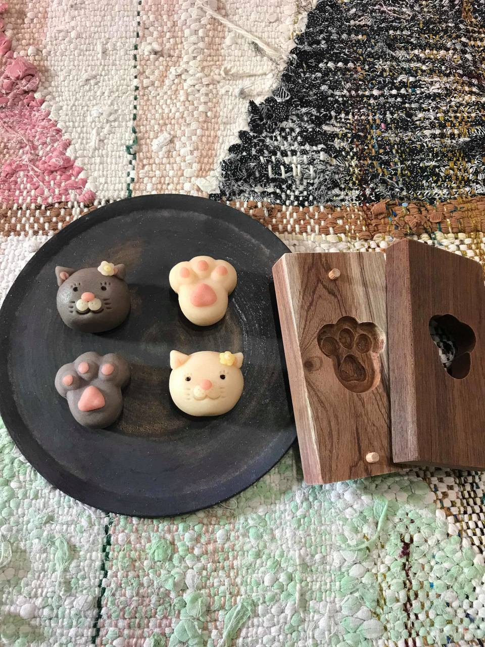 菓子木型で和菓子作り