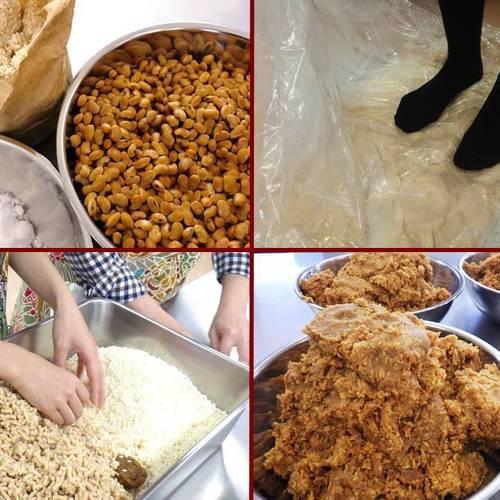 足でフミフミ手作り味噌を作ってみよう