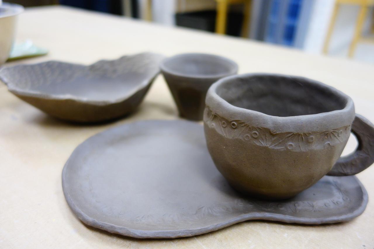 大人の陶芸スクール全2回体験入学(MYカップとお皿作り)