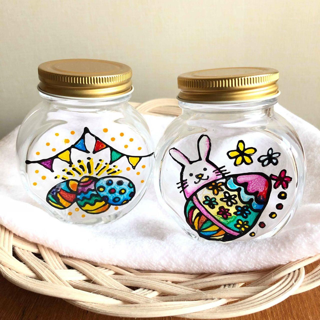 まるでステンドグラス!?ディンプルアートでイースターボトル作り【川崎】2019年4月7日(日)