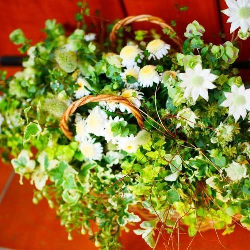 季節のお花でギャザリング(ラピュタファーム教室)