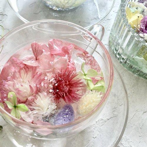 【4月、5月、6月限定レッスン】ガラスコンポートとフラワーティーカップ♡♡♡