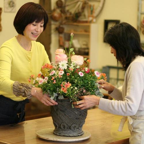 【体験参加】季節の寄せ植えガーデニング コース【 大阪 八尾教室 】